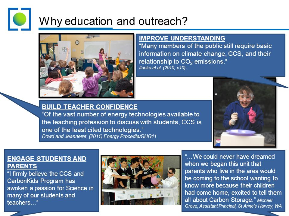 Why education and outreach.