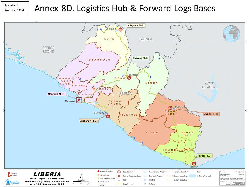 Annex 8D. Logistics Hub & Forward Logs Bases Updated: Dec 05 2014
