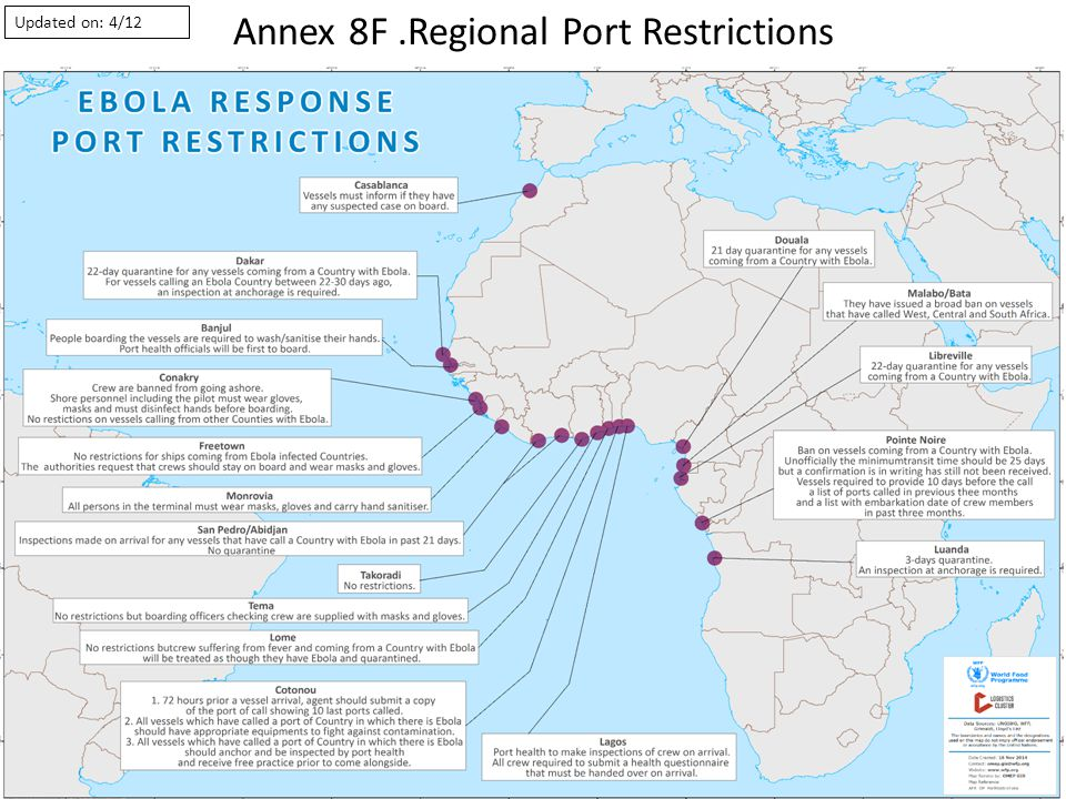Annex 8F.Regional Port Restrictions Updated on: 4/12