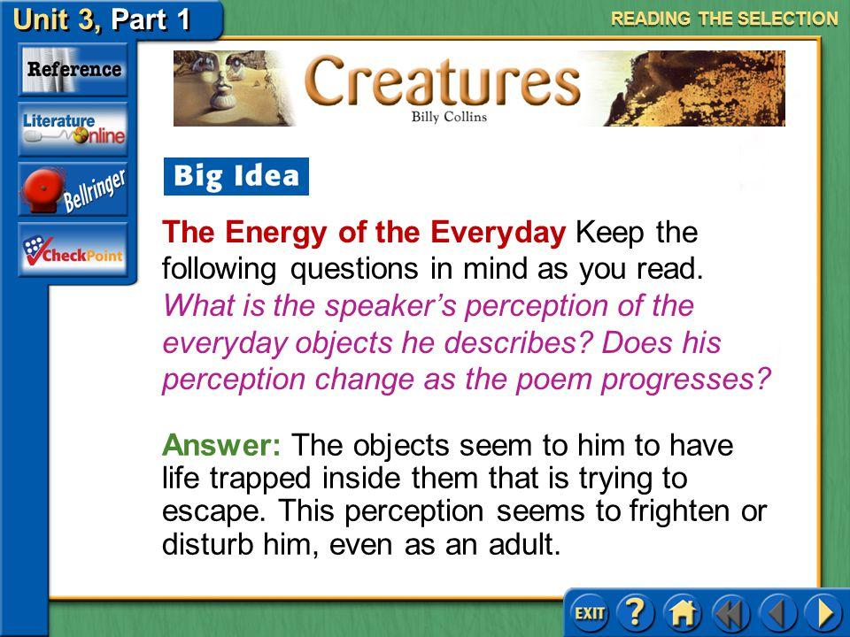 Creatures Unit 3, Part 1
