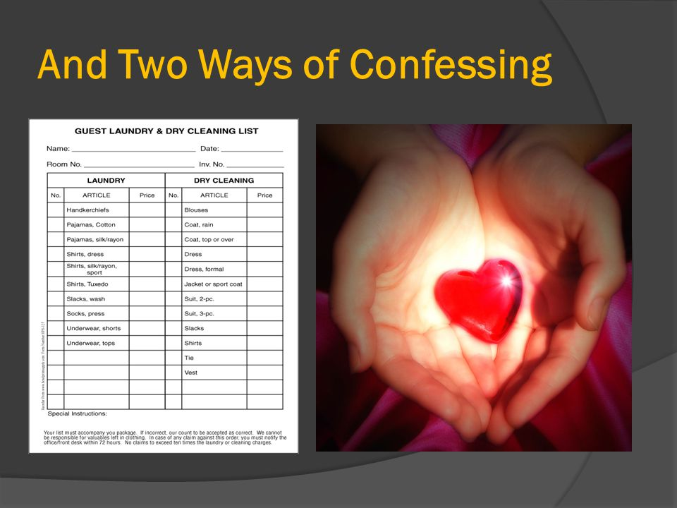 And Two Ways of Confessing