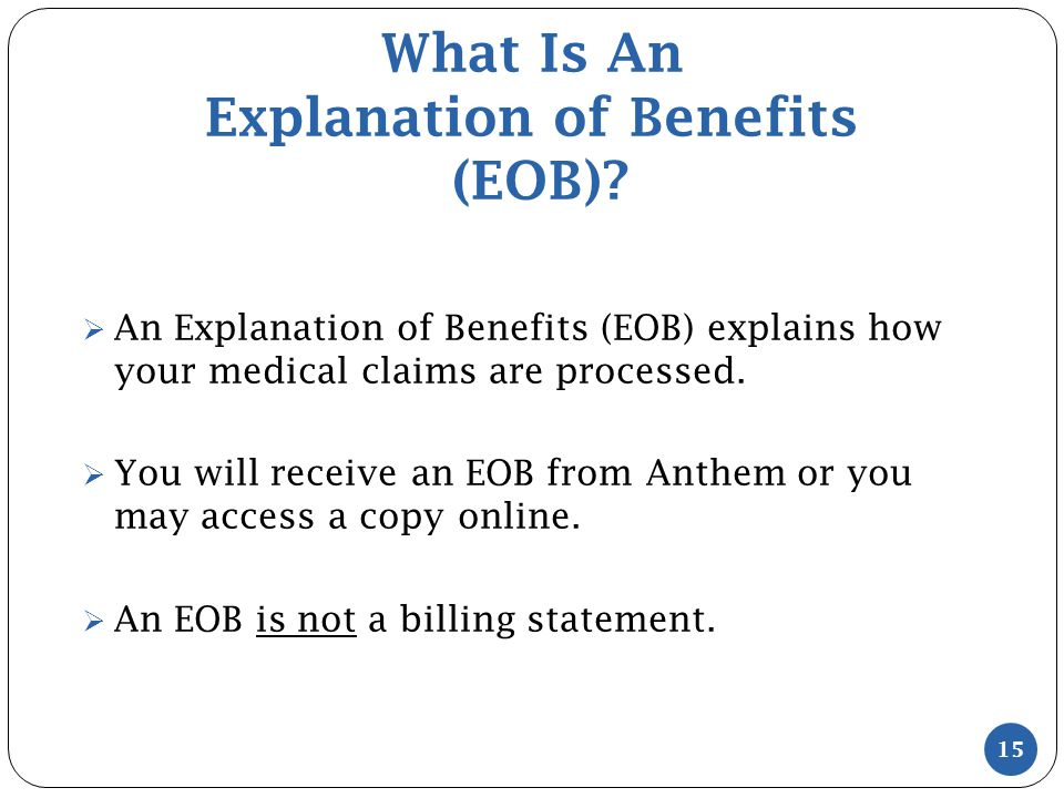 What Is An Explanation of Benefits (EOB).
