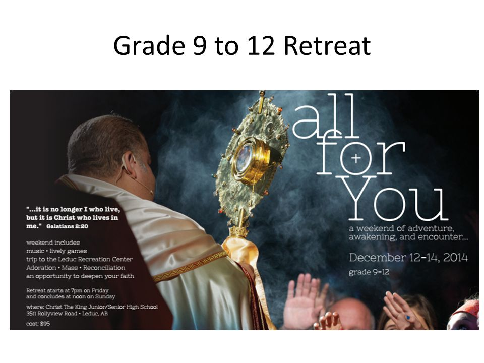 Grade 9 to 12 Retreat