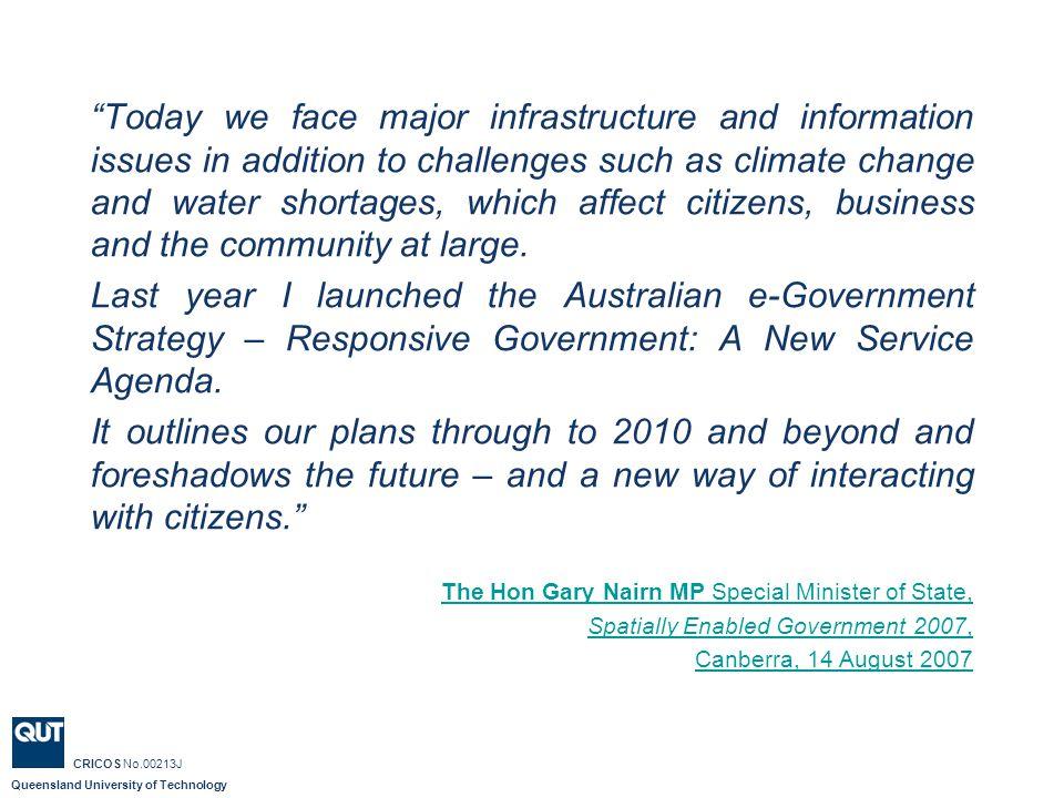 Queensland University of Technology CRICOS No.00213J Australian Government Data Access