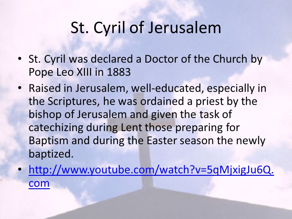 St. Cyril of Jerusalem St.