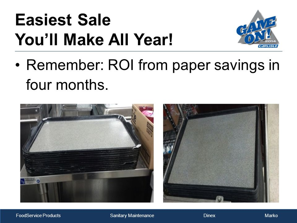 FoodService Products Sanitary Maintenance Dinex Marko Easiest Sale You'll Make All Year.