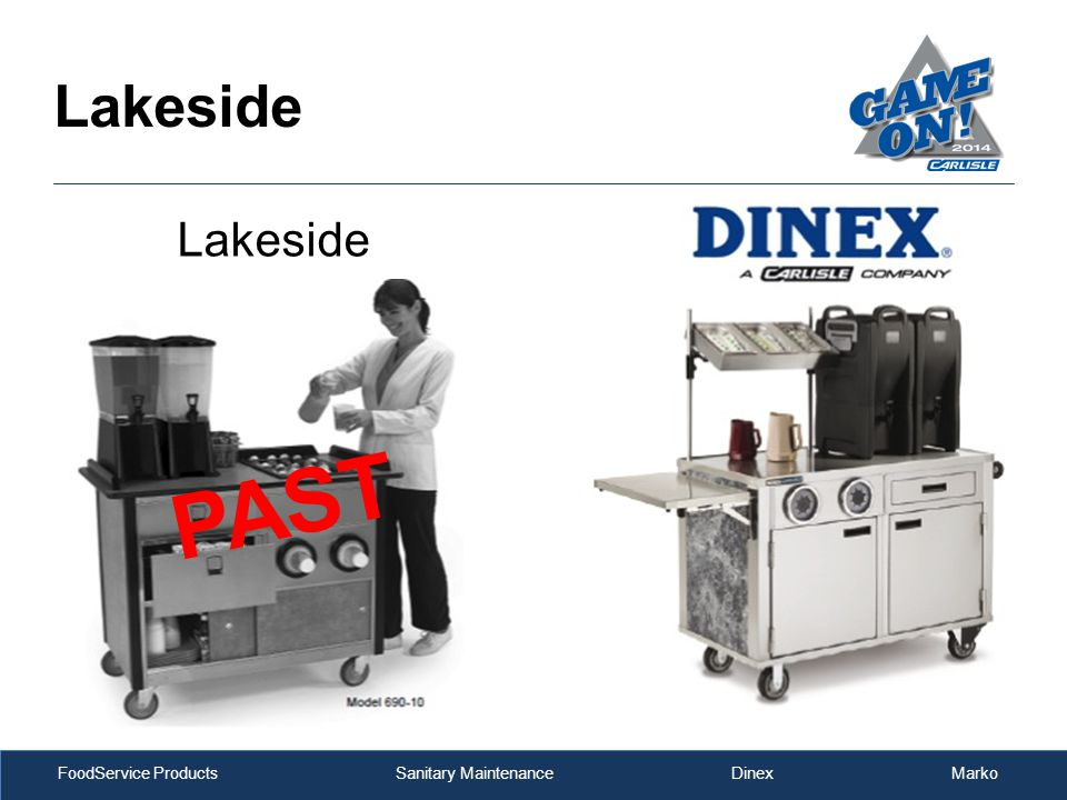 FoodService Products Sanitary Maintenance Dinex Marko PAST Lakeside