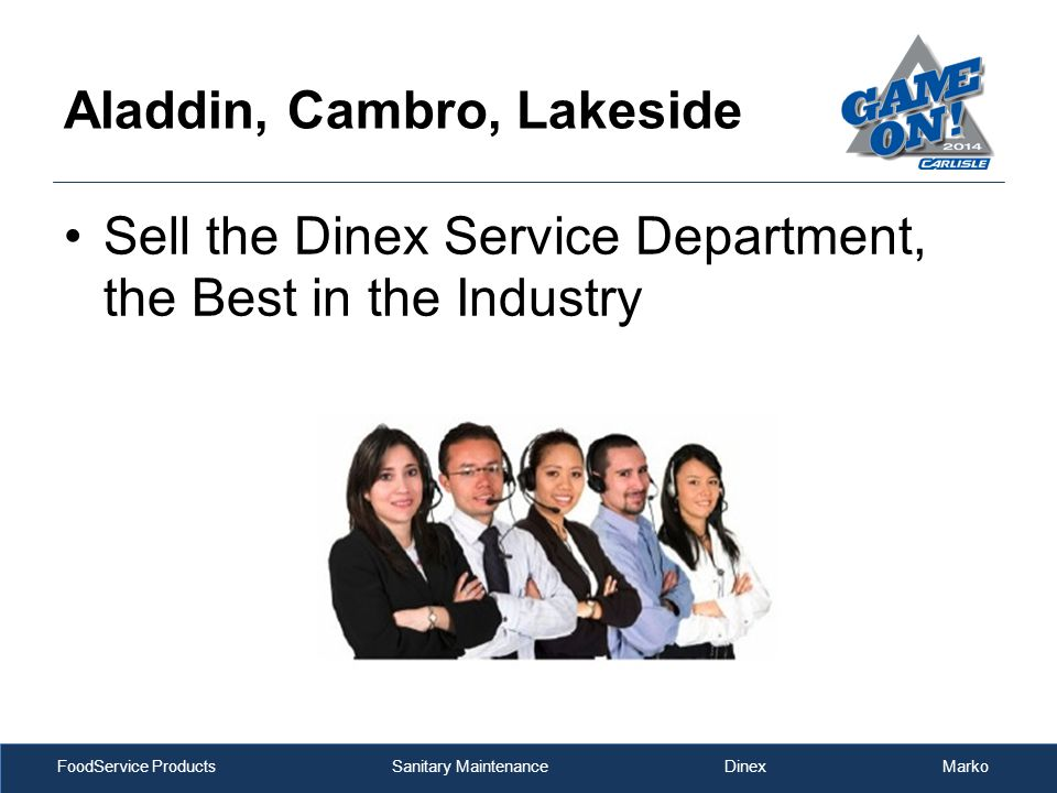FoodService Products Sanitary Maintenance Dinex Marko Aladdin, Cambro, Lakeside Sell the Dinex Service Department, the Best in the Industry