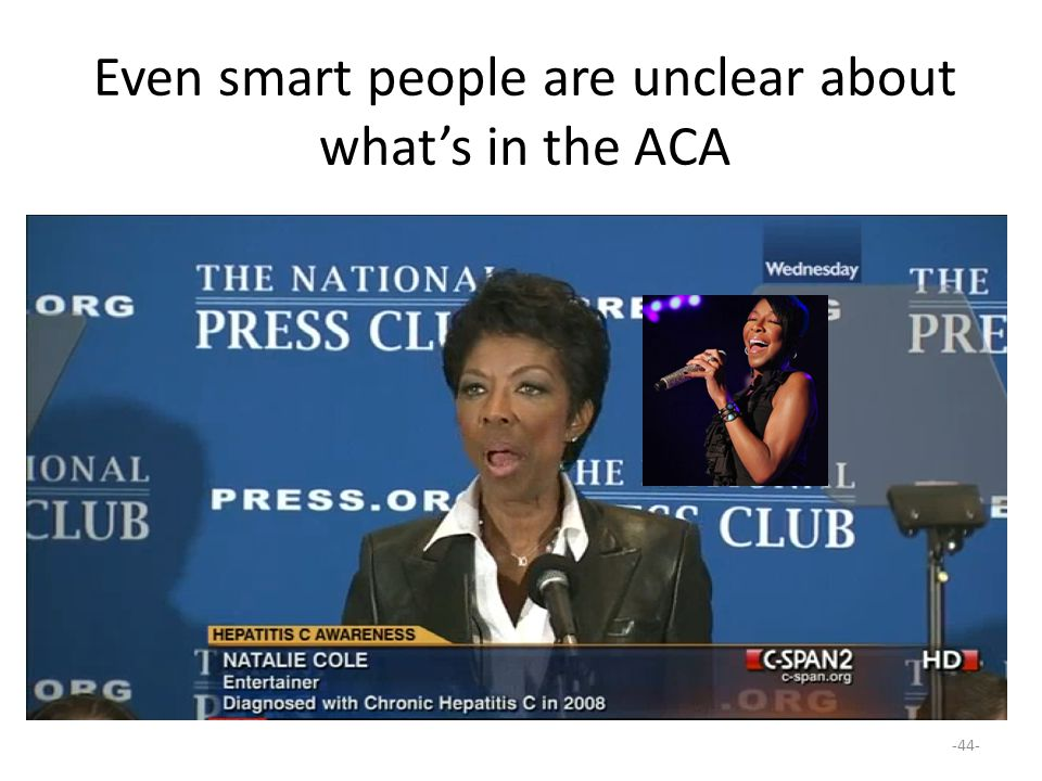 Even smart people are unclear about what's in the ACA -44-