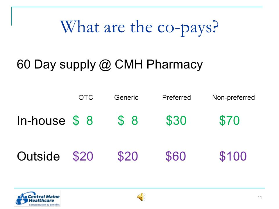 What are the co-pays.
