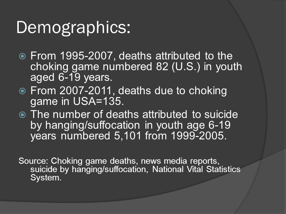Additional Age Info:  2011: 9,11,12, 13 & 17 year olds have died  2010: ranges from 8-21, with ages 12, 13, & 14 tied as largest group range  2009: ages 6-23; age 13 largest group  2008: ages 7-20, 22,28, 30, & 37.