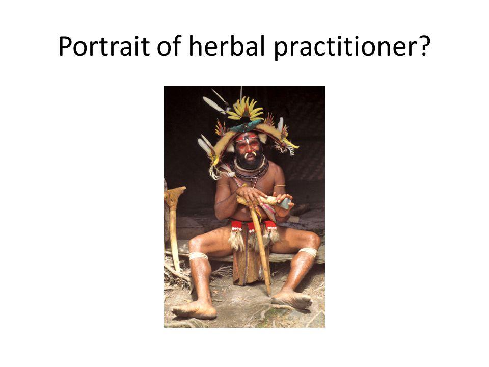 Portrait of herbal practitioner?