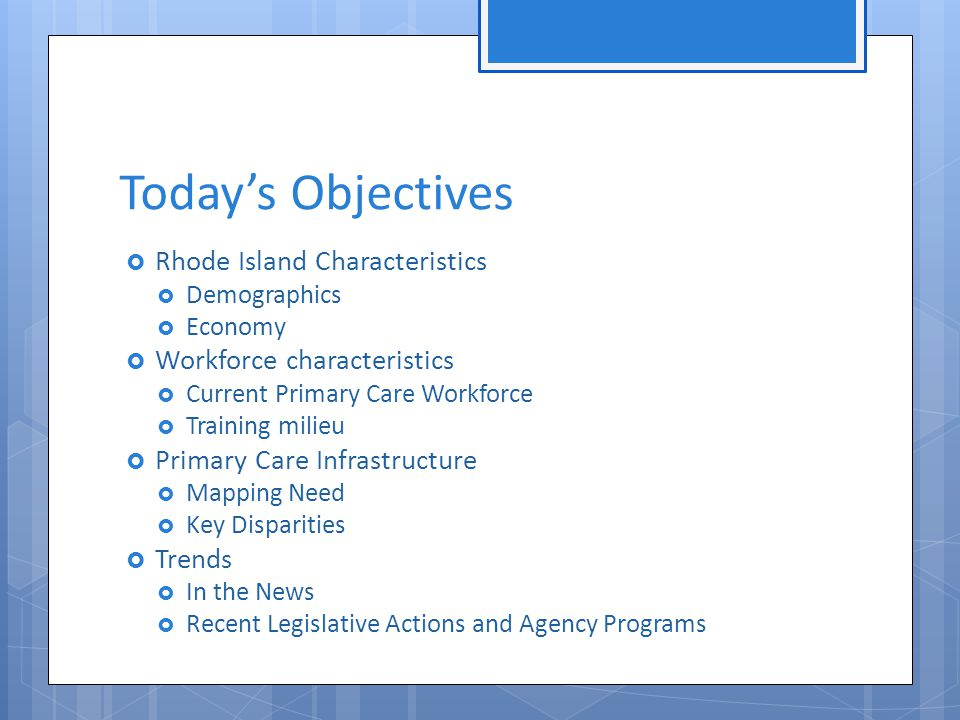 Recent DOH Reports  Impact of Primary Care on Healthcare Cost and Population Health: A Literature Review, Feb 2012 46  An Independent Evaluation of Rhode Island's Global Waiver , The Lewin Group, December 6, 2011 45  The Health of Rhode Island Non-Metropolitan Communities, 2011 22  Healthy Rhode Island 2010  Healthy RI Task Force: Getting National health Reform Right for Rhode Island, Sept 2010 32