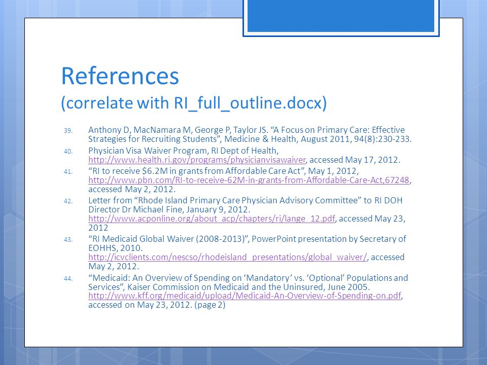 References (correlate with RI_full_outline.docx) 39.
