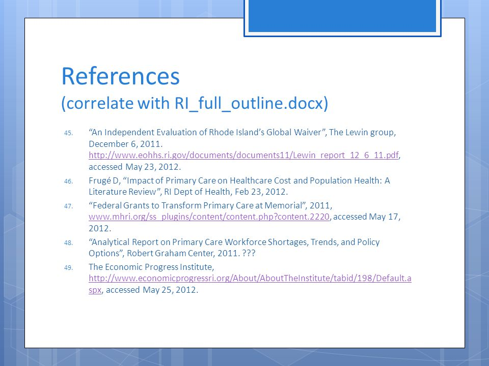 References (correlate with RI_full_outline.docx) 45.