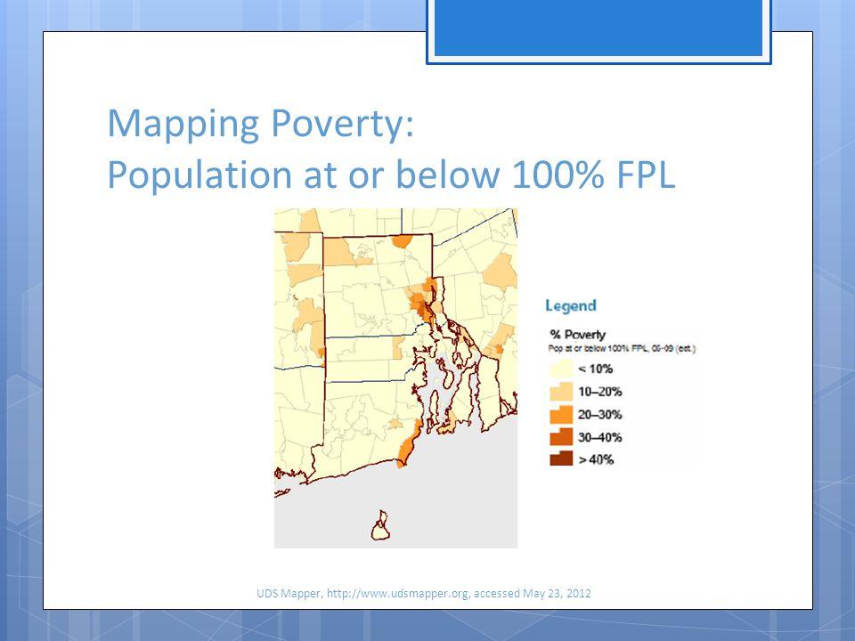 Mapping Need in RI: HPSA's UDS Mapper, udsmapper.org