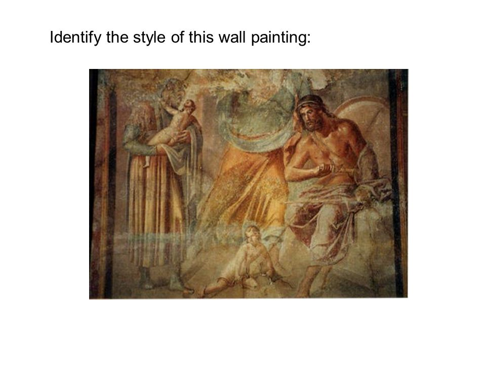 Identify the style of this wall painting: