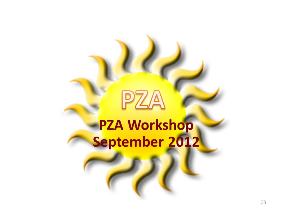 38 PZA Workshop September 2012