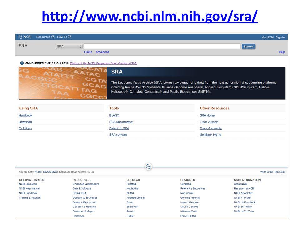 http://www.ncbi.nlm.nih.gov/sra/