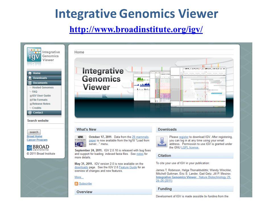 Integrative Genomics Viewer http://www.broadinstitute.org/igv/