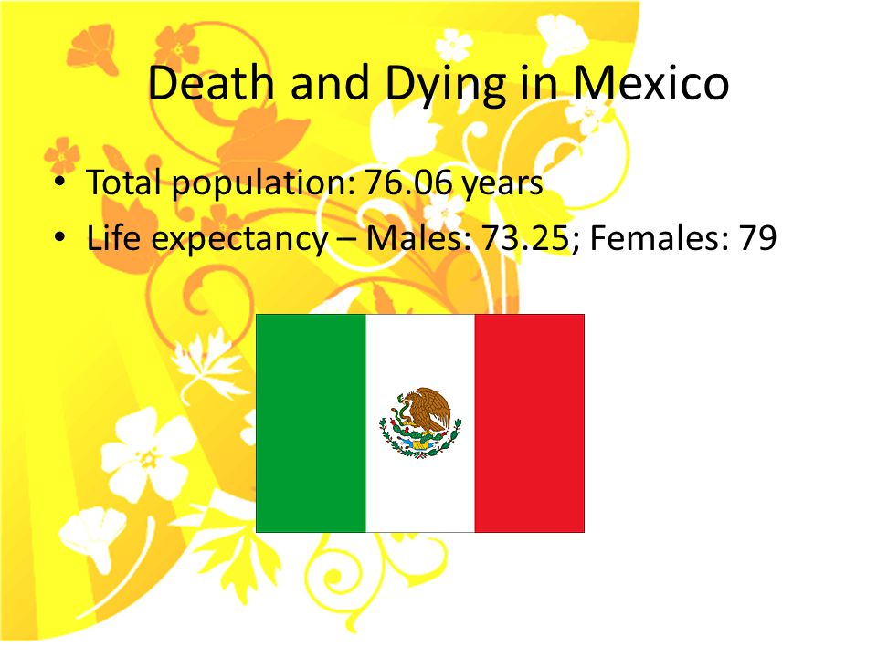 Death and Dying in Mexico Two fold event 1.Person passing 2.Dia De Los Muertos