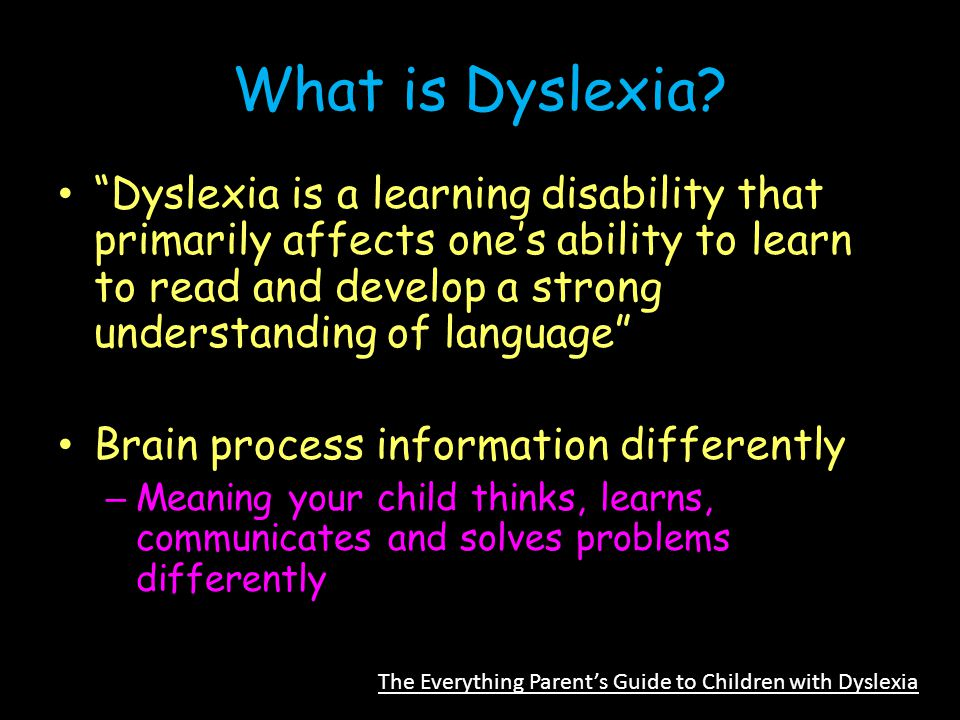 What is Dyslexia.