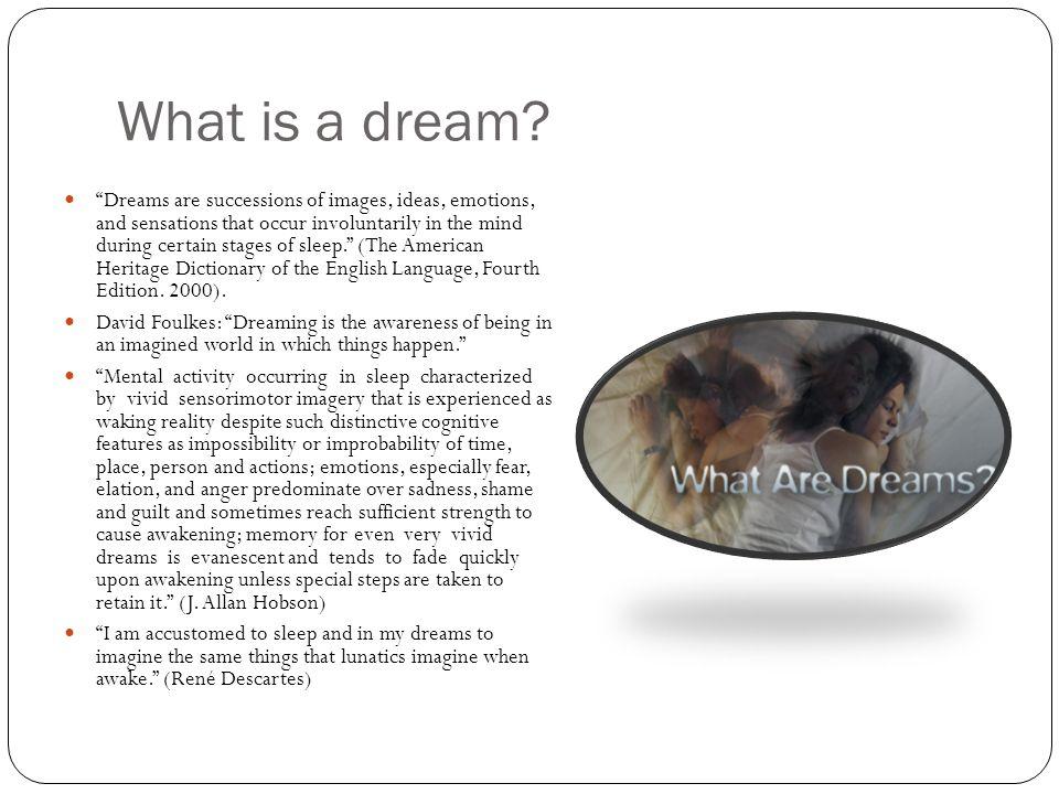 More examples of dreams in popular culture Cartoons: Neil Gaiman: Sandman Dreams can be part of video games.