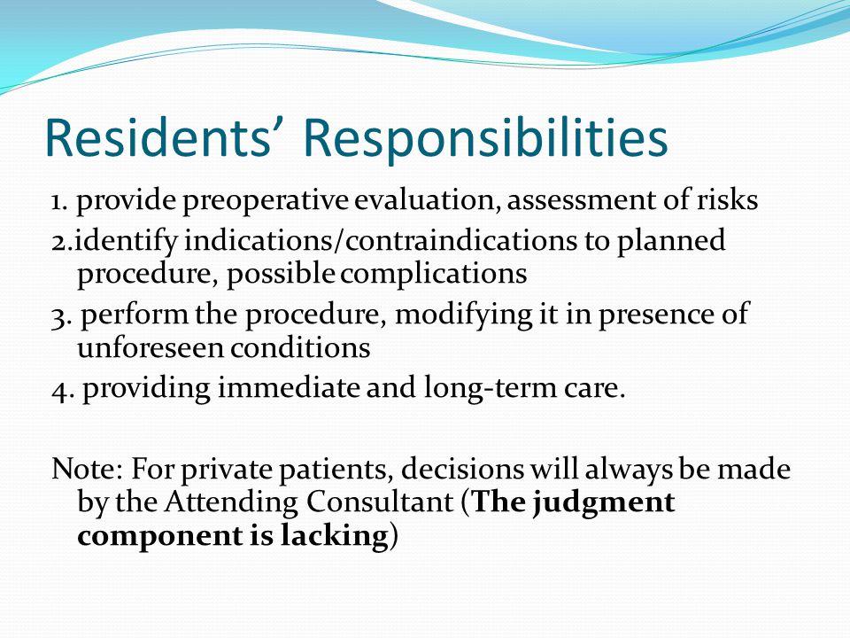 Residents' Responsibilities 1.
