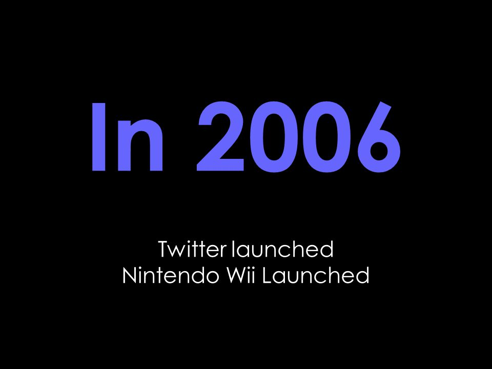 In 2006 Twitter launched Nintendo Wii Launched