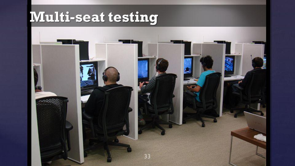 Multi-seat testing 33