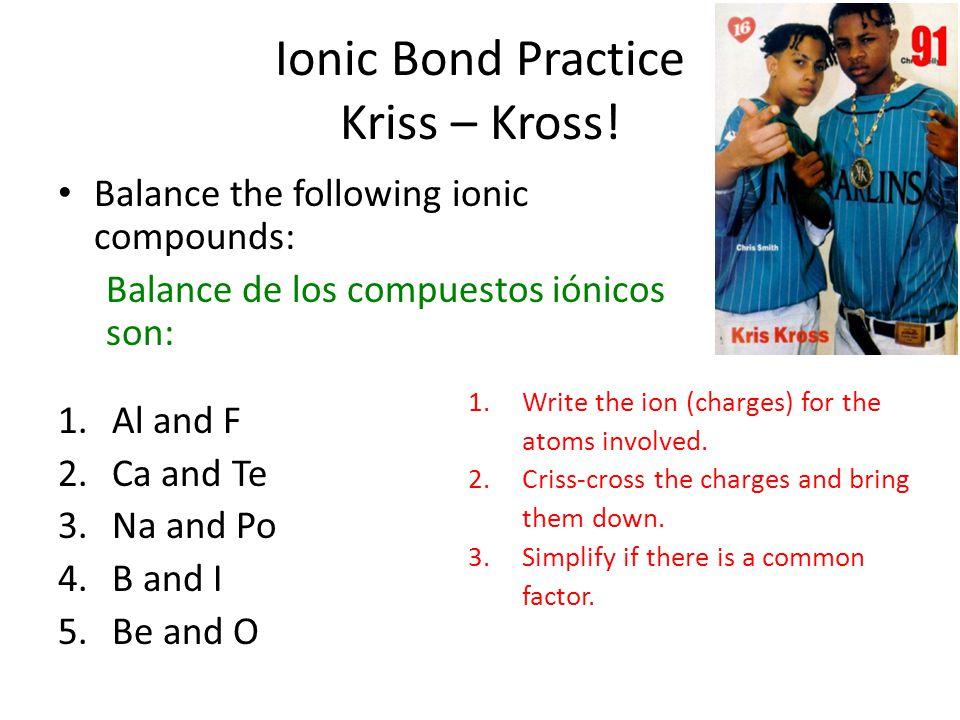 Ionic Bond Practice Kriss – Kross.