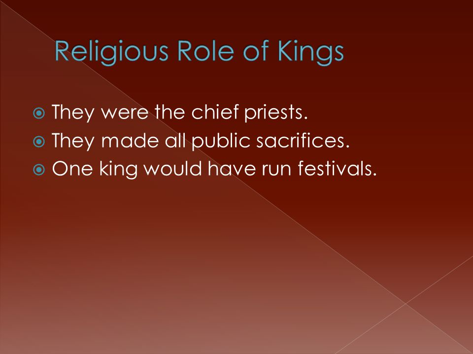  They were the chief priests.  They made all public sacrifices.