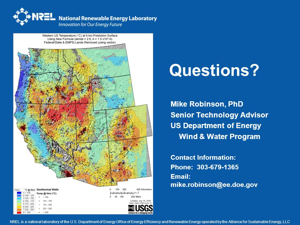 NREL is a national laboratory of the U.S. Department of Energy Office of Energy Efficiency and Renewable Energy operated by the Alliance for Sustainab