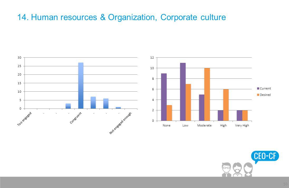 14. Human resources & Organization, Corporate culture 10