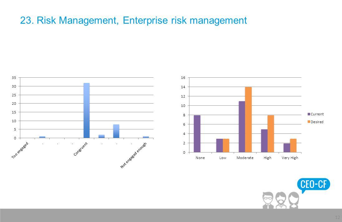 23. Risk Management, Enterprise risk management 12