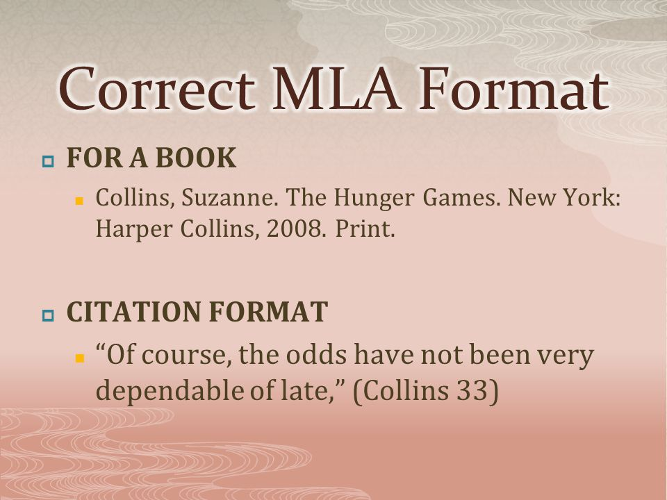  FOR A BOOK Collins, Suzanne. The Hunger Games. New York: Harper Collins, 2008.