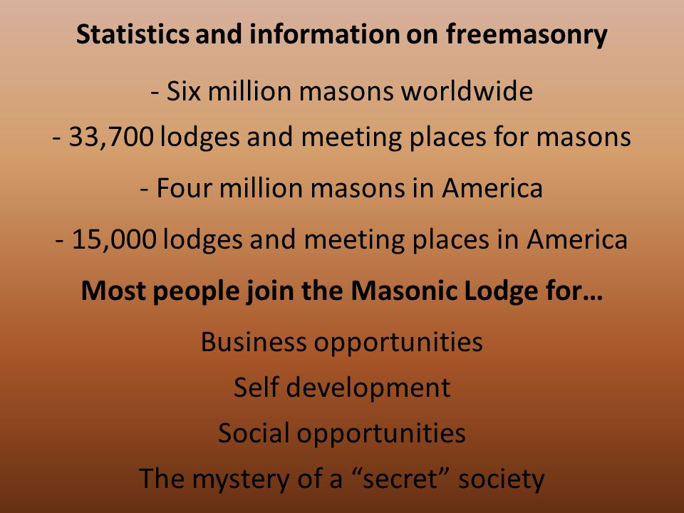 First lodge opened in 1717 in England First lodge in America opened in 1729 What is the public appearance of the Masonic Lodge.