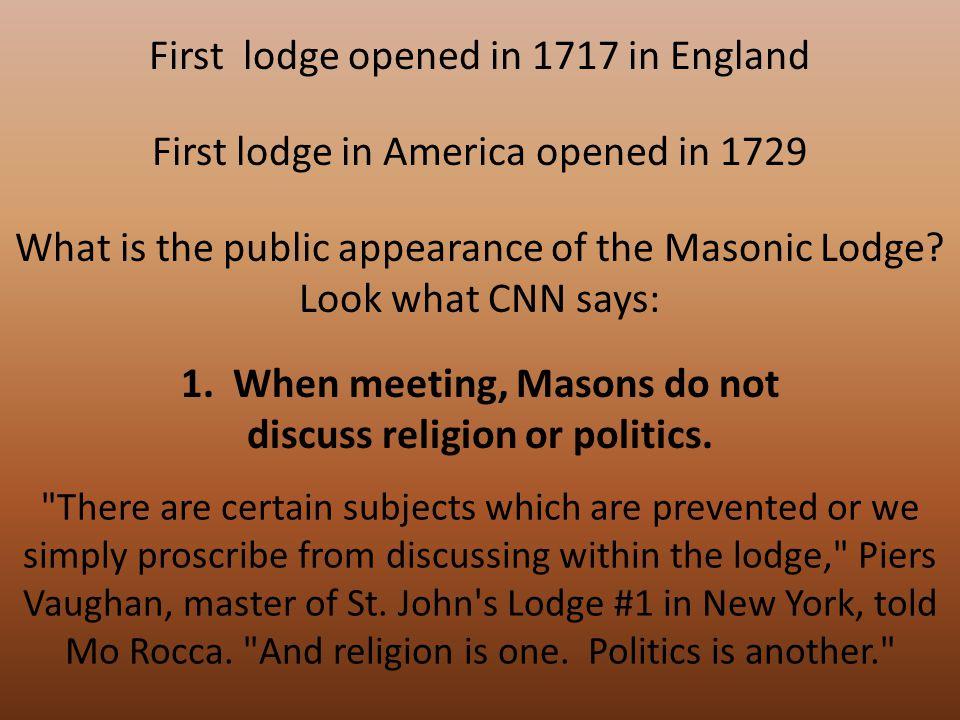 2.Freemasonry is not a religion. Freemasonry has the look of a religion, said Jacob.