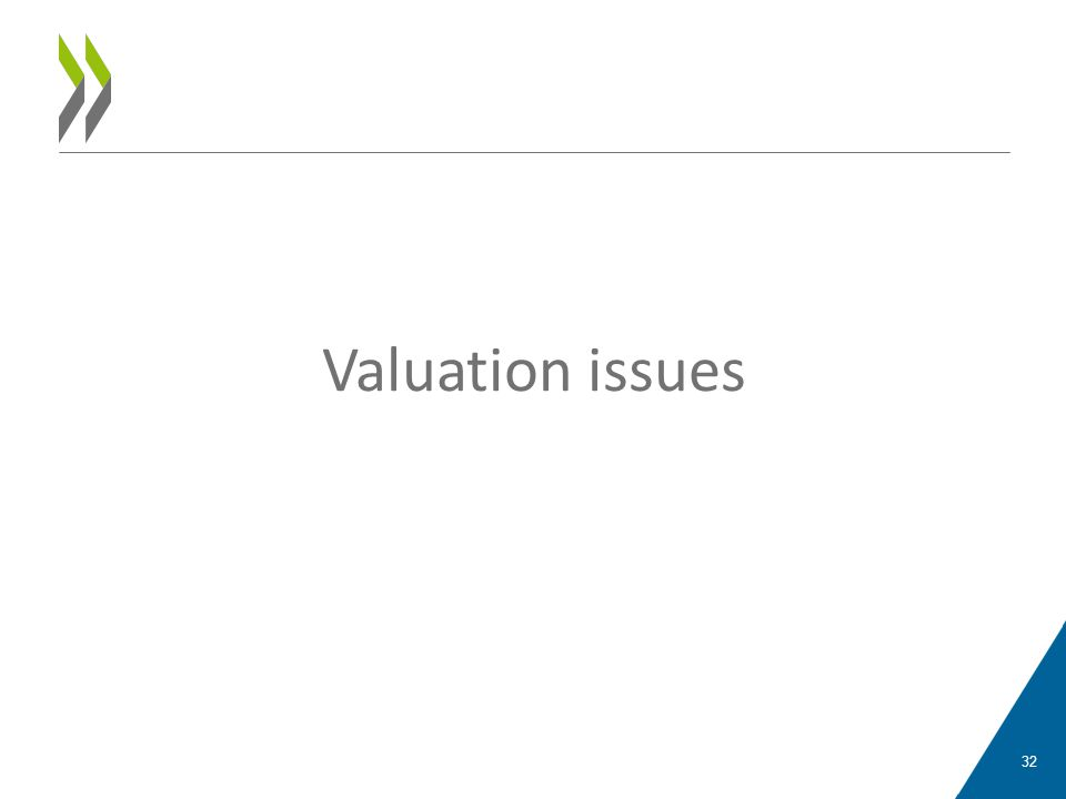 Valuation issues 32