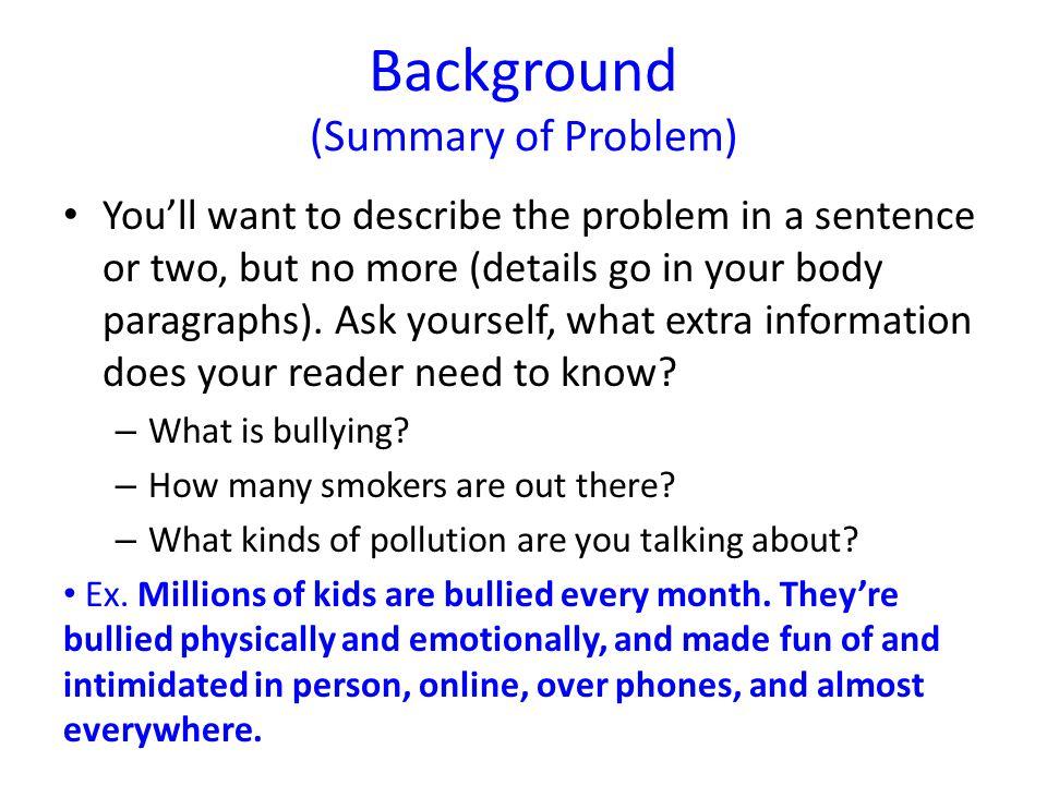 People shouldn't smoke.