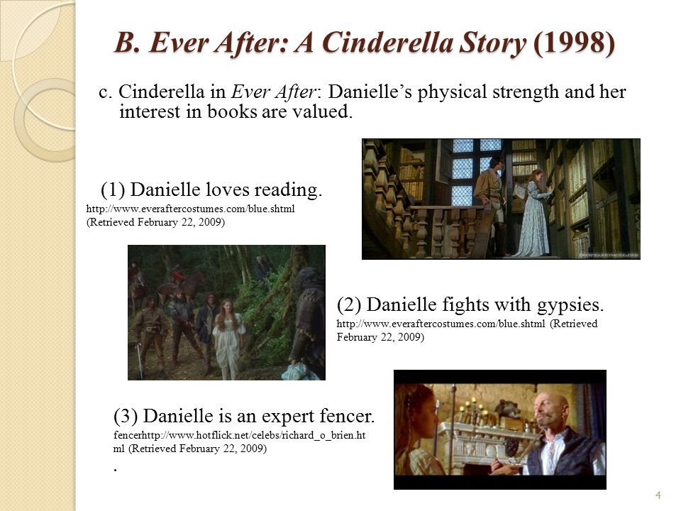 B.Ever After: A Cinderella Story (1998) d. Danielle's identity e.