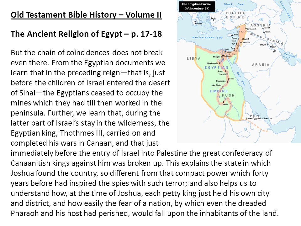 Old Testament Bible History – Volume II The Ancient Religion of Egypt – p.