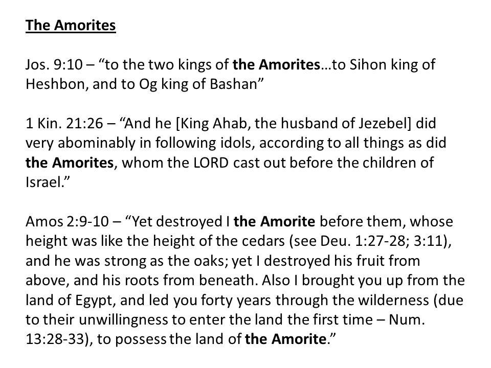 The Amorites Jos.