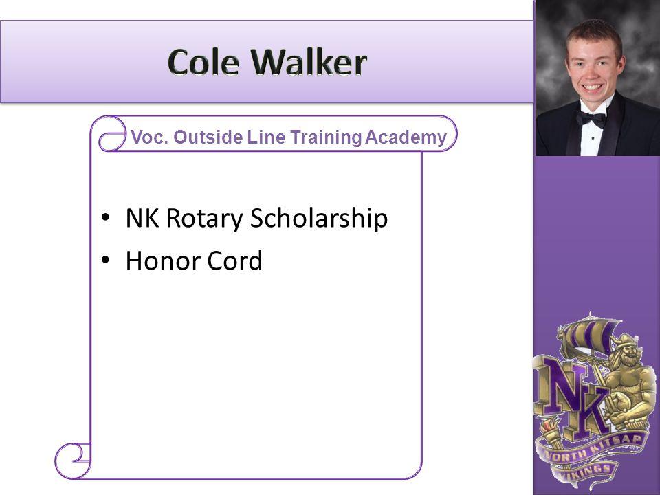 NK Rotary Scholarship Honor Cord Voc. Outside Line Training Academy