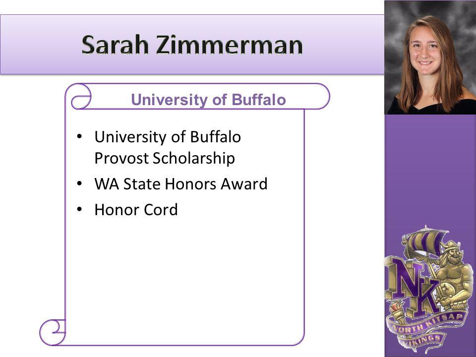 University of Buffalo Provost Scholarship WA State Honors Award Honor Cord University of Buffalo