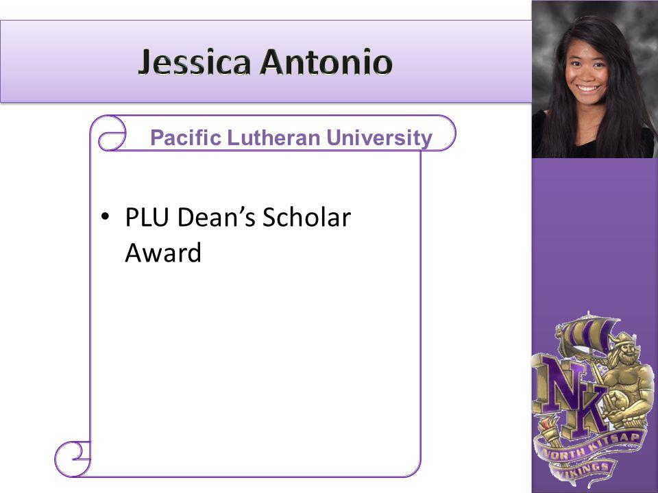 PLU Dean's Scholar Award Pacific Lutheran University