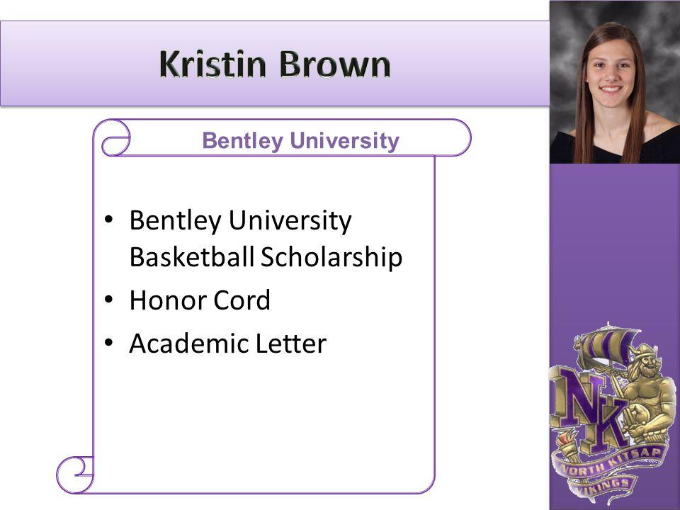 Bentley University Basketball Scholarship Honor Cord Academic Letter Bentley University