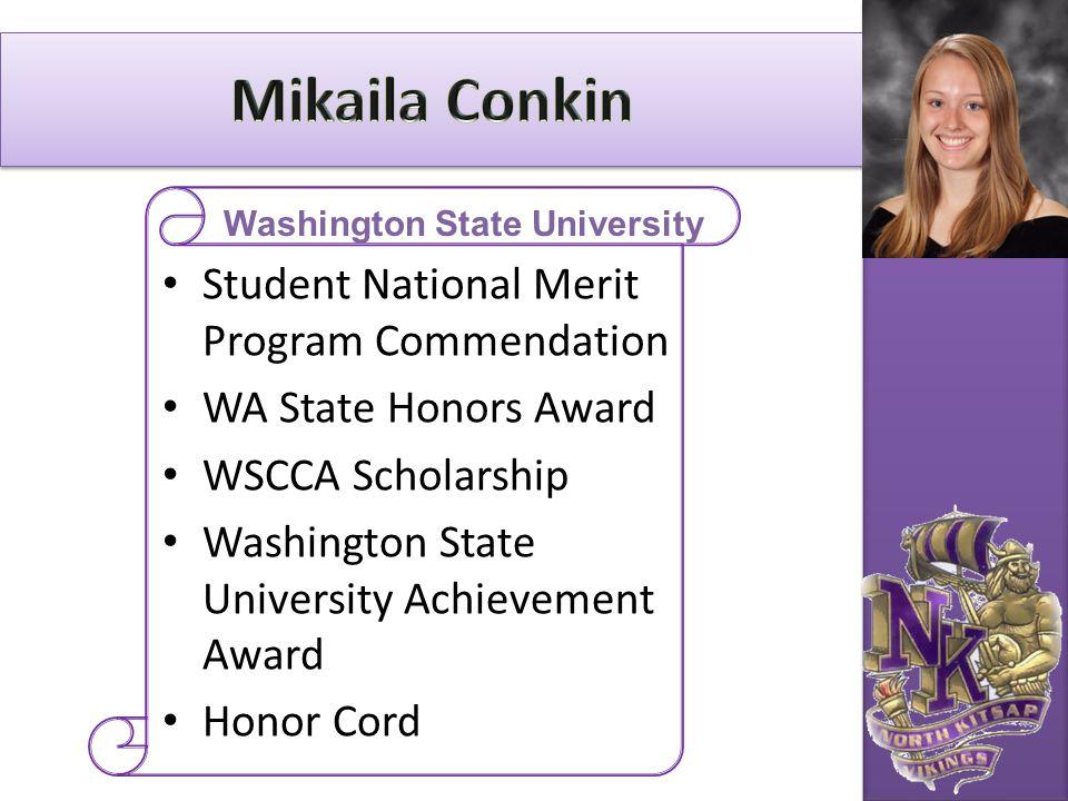 Student National Merit Program Commendation WA State Honors Award WSCCA Scholarship Washington State University Achievement Award Honor Cord Washingto