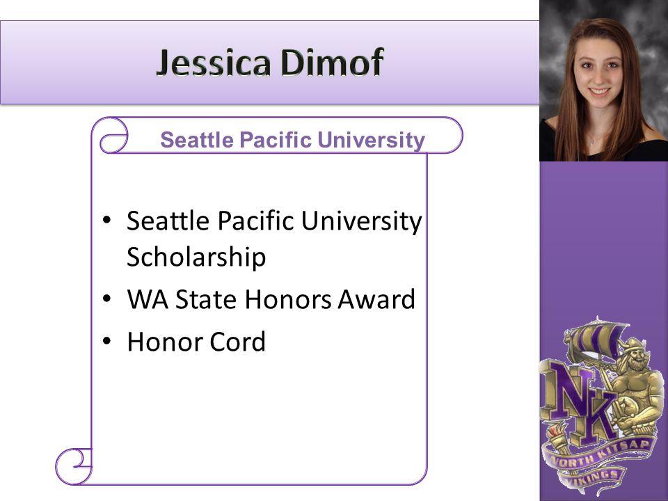 Seattle Pacific University Scholarship WA State Honors Award Honor Cord Seattle Pacific University