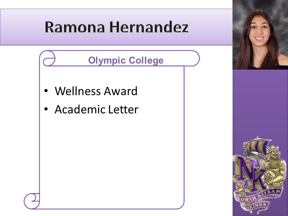 Wellness Award Academic Letter Olympic College